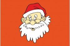 Флаг «Дед Мороз». Вариант-01