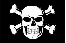 Флаг пиратский «Весёлый Роджер» (дизайн-01)