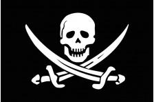 Флаг пиратский «Весёлый Роджер» (дизайн-02)