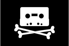 Флаг музыкального пирата.