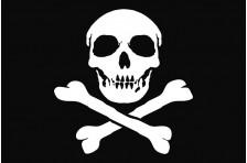 Флаг пиратский «Весёлый Роджер» (дизайн-04)