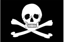 Флаг пиратский «Весёлый Роджер» (дизайн-05)