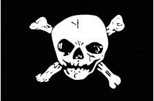 Флаг пиратский «Весёлый Роджер» (дизайн-06)