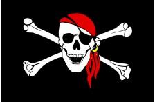 Флаг пиратский «Весёлый Роджер» (дизайн-07)