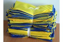 Флаг Украины сшитый 1400х900мм, комплект 100 шт.