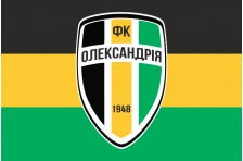 Флаг футбольного клуба «Александрия» Александрия, Украина. Вариант-1