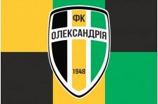 Флаг футбольного клуба «Александрия» Александрия, Украина. Вариант-2