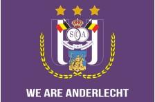 Флаг футбольного клуба «Андерлехт». Вариант-1