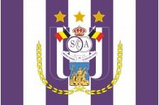 Флаг футбольного клуба «Андерлехт». Вариант-2