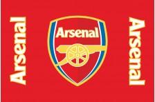 Флаг футбольного клуба «Арсенал» Англия. Вариант-1