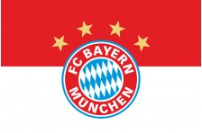 Флаг футбольного клуба «Бавария» Мюнхен. Вариант-1