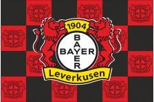 Флаг футбольного клуба «Байер 04». Вариант-1