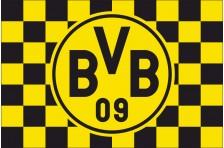 Флаг футбольного клуба «Боруссия» Дортмунд. Вариант-2