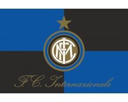 Флаг футбольного клуба «Интернационале» Милан (ФК «Интер»). Вариант-01