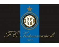 Флаг футбольного клуба «Интернационале» Милан (ФК «Интер»). Вариант-02