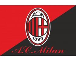 Флаг футбольного клуба «Милан». Вариант-02
