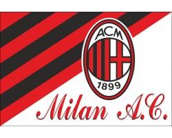 Флаг футбольного клуба «Милан». Вариант-01