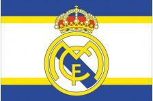 Флаг футбольного клуба «Реал Мадрид». Вариант-2