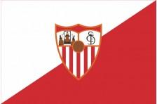 Флаг футбольного клуба «Севилья». Вариант-1