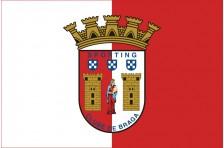 Флаг футбольного клуба «Спортинг» Брага. Вариант-1
