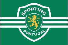 Флаг футбольного клуба «Спортинг» Лиссабон. Вариант-1