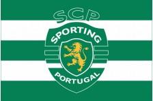 Флаг футбольного клуба «Спортинг» Лиссабон. Вариант-2
