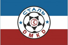 Флаг футбольного клуба «Сталь» Каменское, Украина. Вариант-1