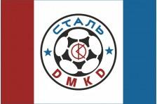 Флаг футбольного клуба «Сталь» Каменское, Украина. Вариант-2