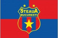 Флаг футбольного клуба «Стяуа» Бухарест. Вариант-1