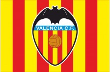 Флаг футбольного клуба «Валенсия». Вариант-1