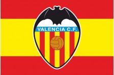 Флаг футбольного клуба «Валенсия». Вариант-2