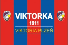 Флаг футбольного клуба «Виктория Пльзень». Вариант-1