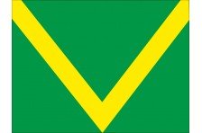 Флаг гоночный - ЗЕЛЕНО-ЖЕЛТЫЙ «Фальстарт»