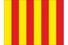 Флаг гоночный - КРАСНО-ЖЕЛТЫЙ «Мусор на трассе», «Скользкая дорога»