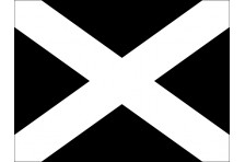 Флаг гоночный - ЧЕРНЫЙ С КРЕСТОМ «Дисквалификация»