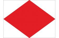 Флаг МСС. Буквенный флаг «F, Foxtrot, Фокстрот»