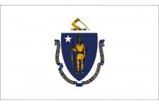 Флаг штата Массачусетс США