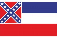 Флаг штата Миссисипи США