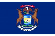 Флаг штата Мичиган США