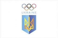 Флаг НОКУ (Национальный олимпийский комитет Украины). Вариант-01.