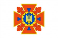 Флаг ГСЧС (государственная служба Украины по чрезвычайным ситуациям), МЧС Украины (старый вариант-1)