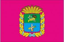 Флаг Краснокутского района Харьковской области Украины