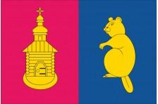 Флаг села Бобрик Броварского района Киевской области Украины