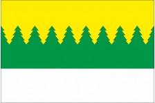 Флаг села Верхний Лужок Старосамборского района Львовской области Украины