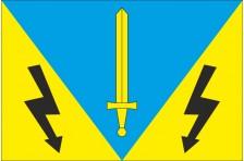 Флаг села Воля-Высоцкая Жолковского района Львовской области Украины