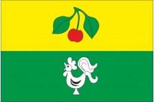 Флаг села Вишневка Купянского района Харьковской области Украины