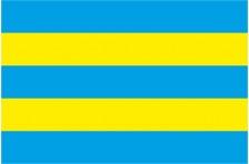 Флаг села Юров Макаровского района Киевской области Украины