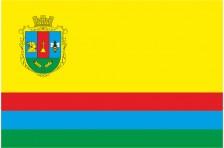 Флаг села Бобрица Емильчинского района Житомирской области Украины