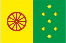 Флаг села Великий Правутин Славутского района Хмельницкой области Украины