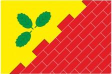 Флаг села Ясеница-Замковая Старосамборского района Львовской области Украины